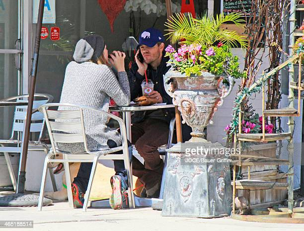Chad Michael Murray and his pregnant wife Sarah Roemer are seen having lunch in Studio City on March 03 2015 in Los Angeles California