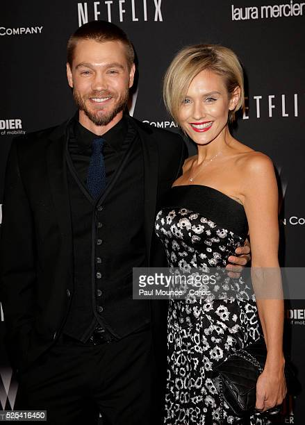 Chad Michael Murray and Nicky Whelan arrive at the Weinstein Company Golden Globes AfterParty
