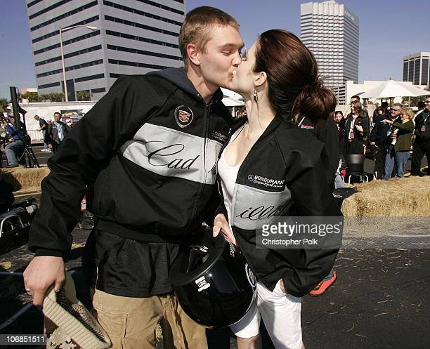 Chad Michael Murray and Sophia Bush during 3rd Annual Cadillac Super Bowl Grand Prix for Charity at CSX in Jacksonville, Florida, United States.