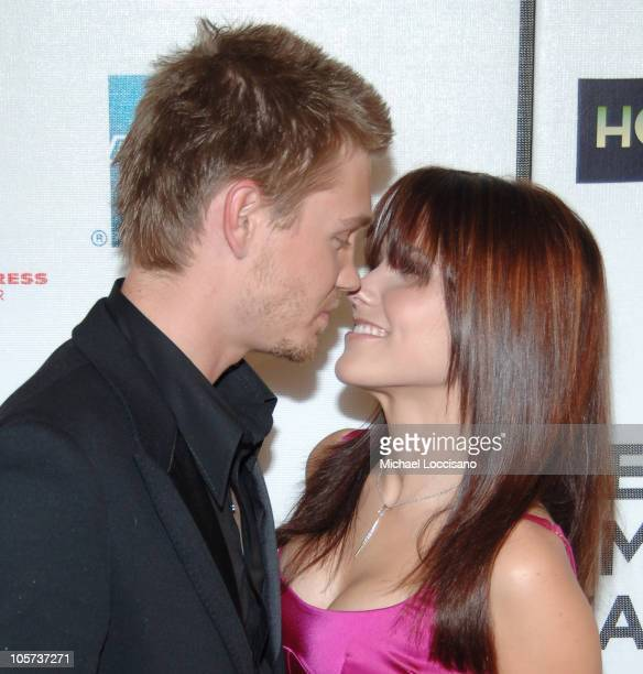 Chad Michael Murray and Sophia Bush during 4th Annual Tribeca Film Festival 'House of Wax' New York City Premiere at Stuyvesant High School in New...