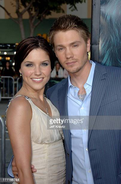 Chad Michael Murray and Sophia Bush during House of Wax Los Angeles Premiere Arrivals at Mann Village in Los Angeles California United States