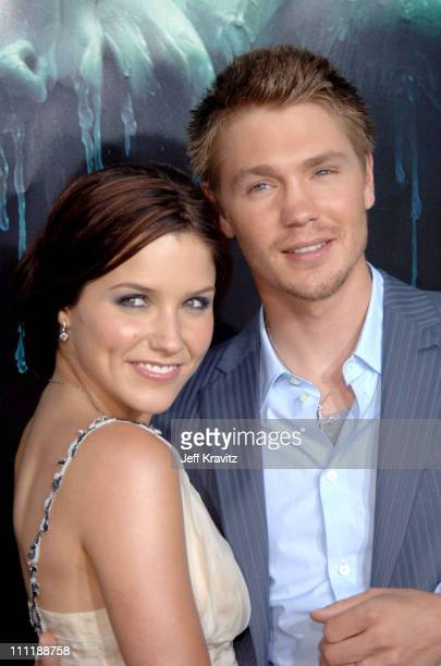 """Chad Michael Murray and Sophia Bush during """"House of Wax"""" Los Angeles Premiere - Arrivals at Mann Village in Los Angeles, California, United States."""