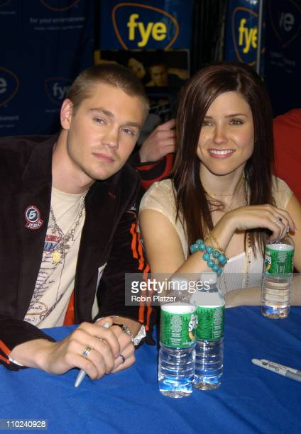 Chad Michael Murray and Sophia Bush during The Cast of 'One Tree Hill' Signs Their DVD and Soundtrack CD at FYE in New York City at FYE in New York...