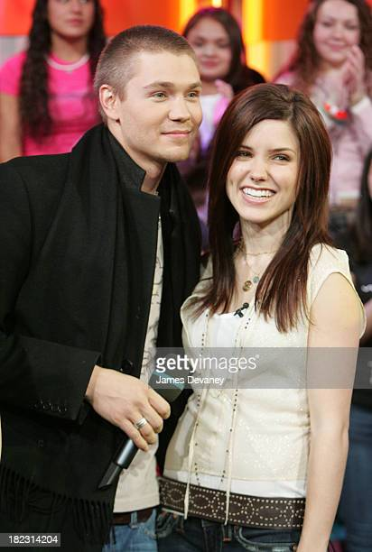 Chad Michael Murray and Sophia Bush during The Cast of One Tree Hill Visits MTV's TRL January 25 2005 at MTV Studios Times Square in New York City...