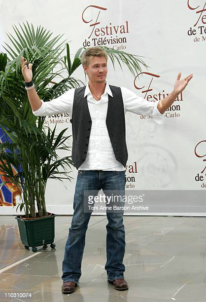 Chad Michael Murray during 2007 Monte Carlo Television Festival 'One Tree Hill' Chad Michael Murray Photocall at Grimaldi Forum in Monte Carlo France