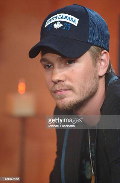 Chad Michael Murray during Cast of 'House of Wax' Visits Fuse's 'Daily Download' May 4 2005 at Fuse Studios in New York City New York United States