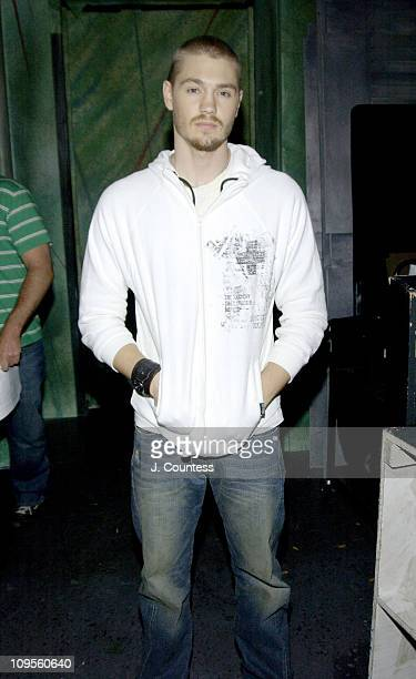 Chad Michael Murray during Chad Michael Murray and Sarcasm Visit Fuse 'Daily Download' July 14 2004 at FUSE Studios in New York City New York United...