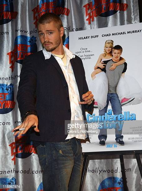 Chad Michael Murray during Chad Michael Murray Donates 'Cinderella Story' Memorabilia to Planet Hollywood at Planet Hollywood in New York City New...