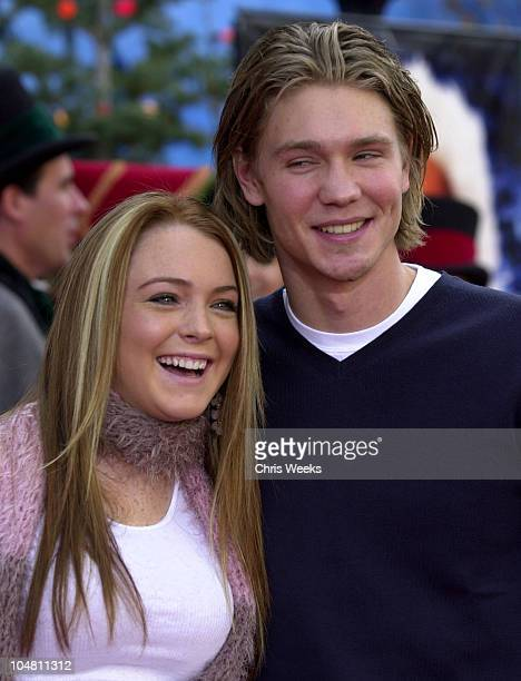 Chad Michael Murray Lindsay Lohan during Premiere of The Santa Clause 2 at El Capitan Theatre in Hollywood California United States