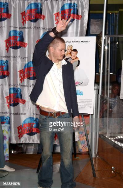 Chad Michael Murray promoting his new romantic teen comedy 'A Cinderella Story' at Planet Hollywood in Time Square