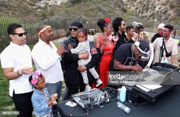 Chad Millard Mumtaz Morris Musician Stevie Wonder Nia Morris DJ MalSki Sophia Morris Kwame Morris Mandla Morris Kai Millard Keita Morris and Kailand...