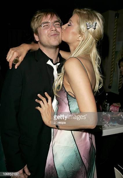 Chad Muska and Paris Hilton during Paris Hilton's 24th Birthday Dinner at Geisha House in Los Angeles, California, United States.