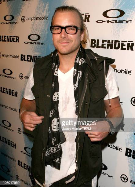 Chad Muska during 2006 Blender/Oakley X Games Kick Off Party - Red Carpet at Element in Hollywood, California, United States.