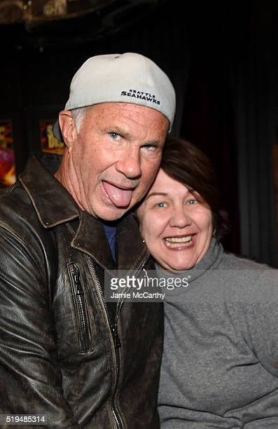 Chad Smith and Donna Faircloth attend an intimate inductee conversation hosted By John Varvatos presented by Klipsch Audio on April 6 2016 in New...