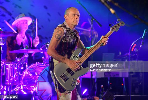 Chad Smith and Flea of The Red Hot Chili Peppers performs onstage during Oceana's Fourth Annual Rock Under The Stars Featuring The Red Hot Chili...