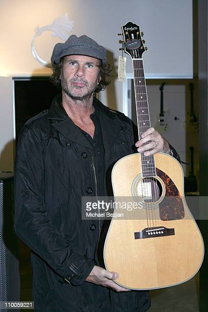 Chad Smith during Gibson Guitars Hosts DeHoghton Denim Fall 2007 Collection at Gibson Guitar Baldwin Showroom in Beverly Hills California United...