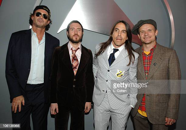 Chad Smith John Frusciante Anthony Kiedis and Flea of The Red Hot Chili Peppers nominees Album Of The Year Best Rock Performance By A Duo Or Group...