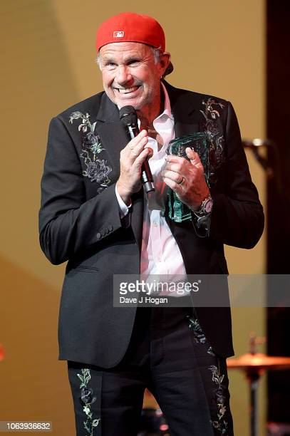Chad Smith of Red Hot Chili Peppers on stage during the Music Industry Trust Awards 2018 at Grosvenor House on November 05 2018 in London England