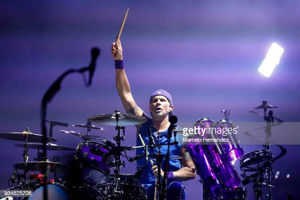Chad Smith of Red Hot Chili Peppers performs during the second day of Lollapalooza Chile 2018 at Parque O'Higgins on March 17 2018 in Santiago Chile
