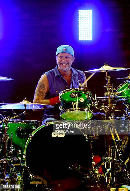 Chad Smith of Red Hot Chili Peppers performs onstage during their album release party on ATT LIVE at iHeartRadio Theater on May 26 2016 in Burbank...