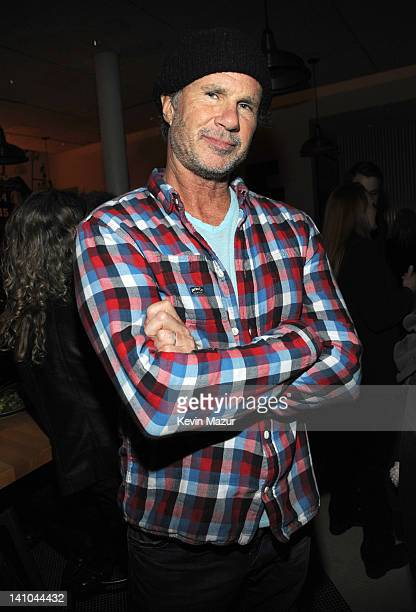 Chad Smith of Red Hot Chilli Peppers attends the after party for SiriusXM's celebration of 10 years of satellite radio with a concert by Bruce...