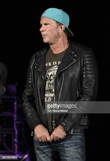 Chad Smith of the Red Hot Chili Peppers participates in the announcment that the band will not perform due to a medical emergency related to Anthony...