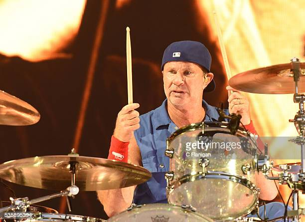 Chad Smith of the Red Hot Chili Peppers perform during the 2016 BottleRock Napa Valley Music Festival at Napa Valley Expo on May 29 2016 in Napa...