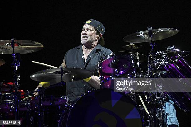 Chad Smith of the Red Hot Chili Peppers performs during a show as part of The Getaway World Tour at the American Airlines Center on January 08 2017...
