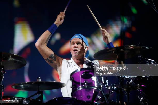 Chad Smith of the Red Hot Chili Peppers performs during Rock in Rio 2019 at Palco Mundo at Cidade do Rock on October 3, 2019 in Rio de Janeiro,...