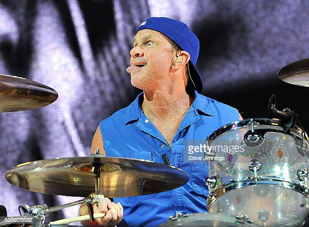 Chad Smith of the Red Hot Chili Peppers performs on Day 3 of the 4th Annual BottleRock Napa Music Festival at Napa Valley Expo on May 29 2016 in Napa...