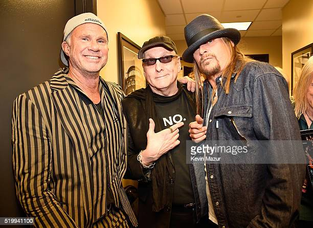 Chad Smith Rick Nielsen and Kid Rock attend 31st Annual Rock And Roll Hall Of Fame Induction Ceremony at Barclays Center of Brooklyn on April 8 2016...