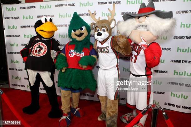 Chad Spencer as AHL hockey's Tux the Penguin Michael Hostetter as Lebanon High School's Rooty the Cedar Tree Kevin Vanderkolk as NBA's Milwaukee...