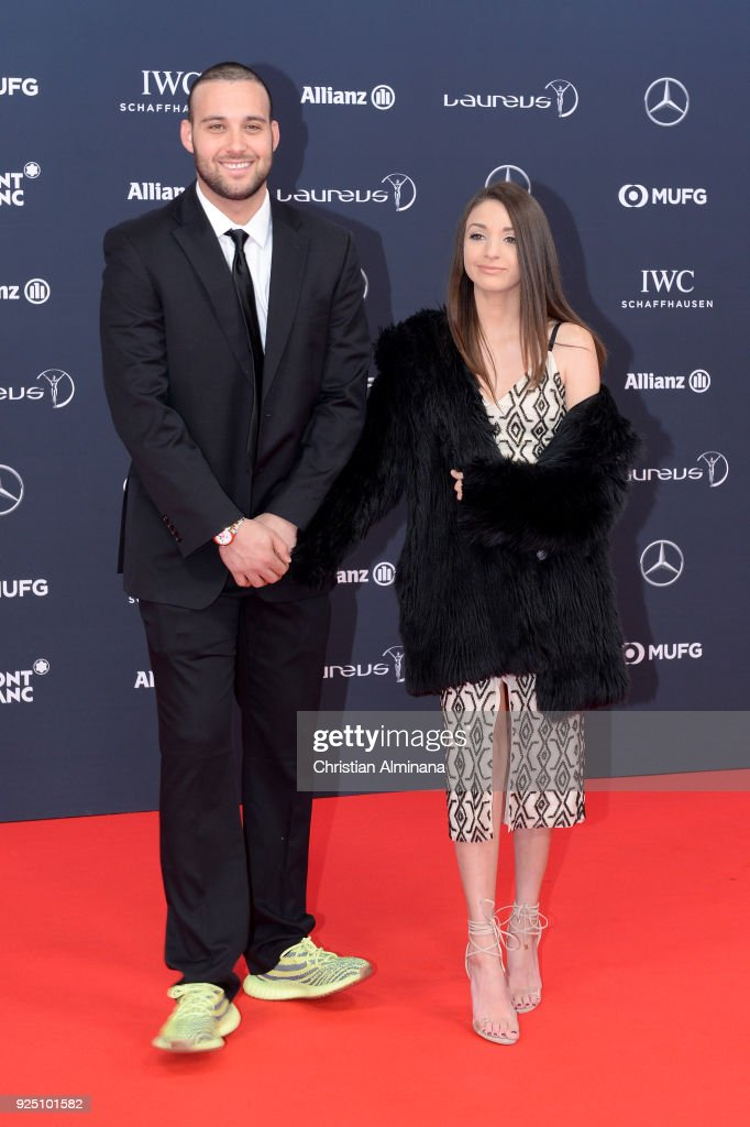 Chad Tepper and guest attend the 2018 Laureus World Sports Awards at Salle des Etoiles, Sporting Monte-Carlo on February 27, 2018 in Monaco, Monaco.