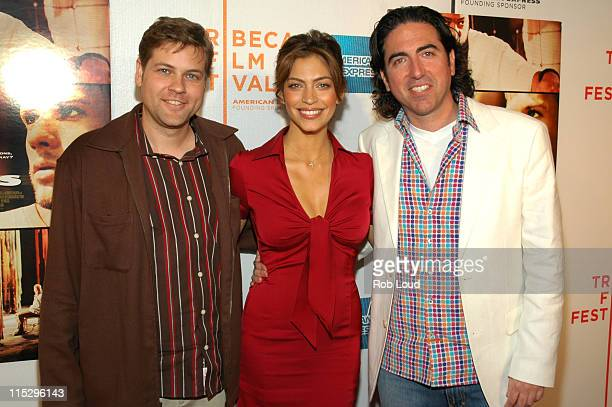 Chad Thumann Touriya Haoud and Laurence Malkin during 5th Annual Tribeca Film Festival Five Fingers Premiere Inside Arrivals at Tribeca Performing...