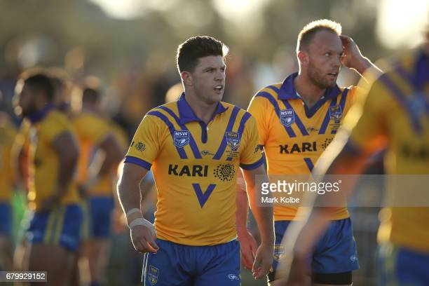 Chad Townsend and David Gower of City watch on during the 2017 City versus Country Origin match at Glen Willow Sports Ground on May 7 2017 in Mudgee...
