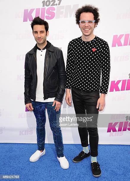 Chad Vaccarino and Ian Axel of A Great Big World attend 1027 KIIS FM's 2014 Wango Tango at StubHub Center on May 10 2014 in Los Angeles California