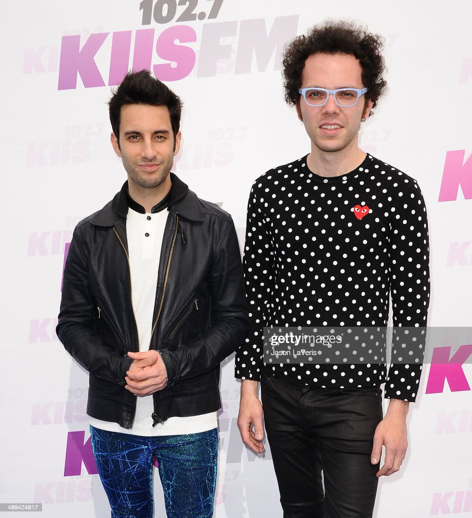Chad Vaccarino and Ian Axel of A Great Big World attend 102.7 KIIS FM's 2014 Wango Tango at StubHub Center on May 10, 2014 in Los Angeles, California.