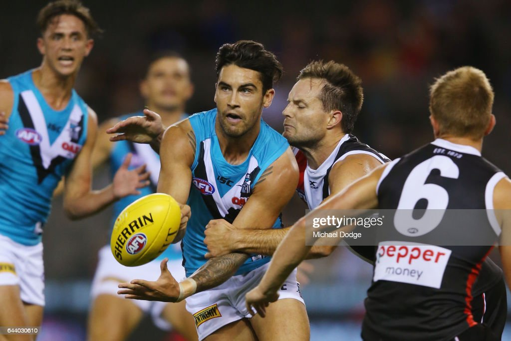 St Kilda v Port Adelaide - 2017 JLT Community Series : News Photo