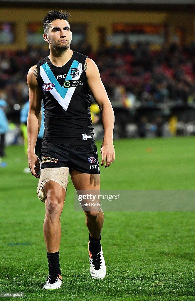 AFL Rd 21 - Port Adelaide v Melbourne : News Photo