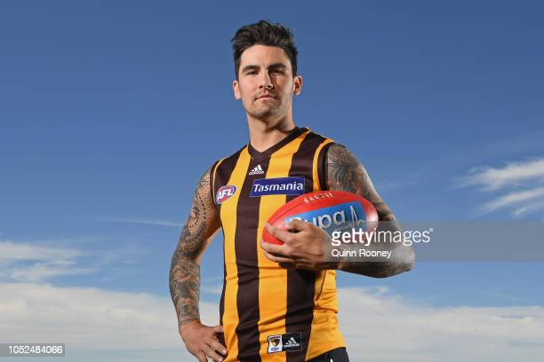 Chad Wingard poses during a Hawthorn Hawks AFL media opportunity at Waverley Park on October 19 2018 in Melbourne Australia