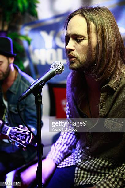 Chad Wolf of Carolina Liar at the Young Hollywood Studio on February 8 2012 in Los Angeles California