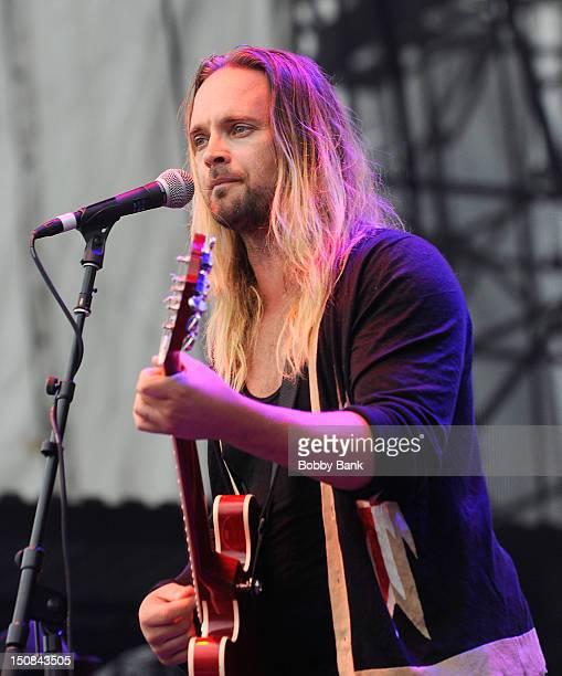 Chad Wolf of Carolina Liar attends the Summer Mixtape Festival 2012 at Hersheypark Stadium on August 17 2012 in Hershey Pennsylvania