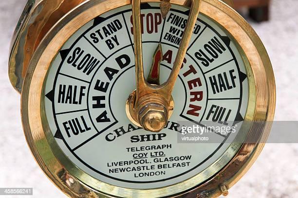Chadburns Schiffe Motor um Telegraph