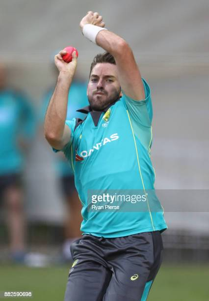 Chadd Sayers of Australia bowls during an Australian nets session at Adelaide Oval on November 30 2017 in Adelaide Australia