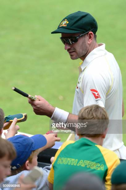 Chadd Sayers of Australia during day 1 of the 4th Sunfoil Test match between South Africa and Australia at Bidvest Wanderers Stadium on March 30 2018...