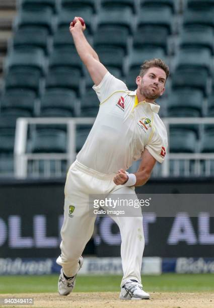 Chadd Sayers of Australia during day 2 of the 4th Sunfoil Test match between South Africa and Australia at Bidvest Wanderers Stadium on March 31 2018...