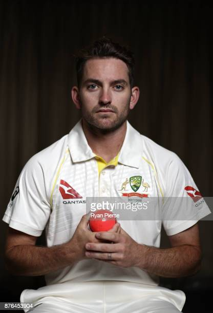 Chadd Sayers of Australia poses during the Australia Test cricket team portrait session on November 20 2017 in Brisbane Australia