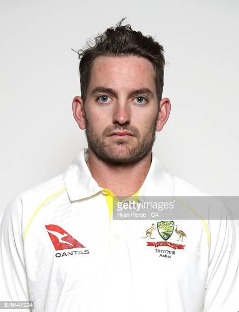 Chadd Sayers of Australia poses during the Australia Test Team Headshots Session on November 20 2017 in Brisbane Australia