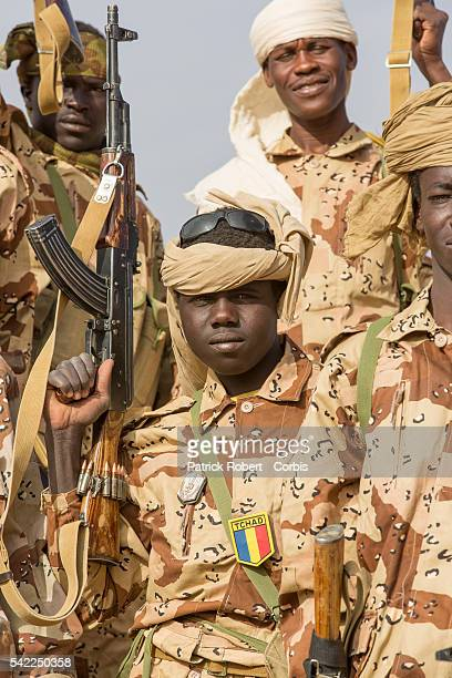 Chadian Army is seen in the area of Kidal as part of the Operation Serval and the African-led International Support Mission to Mali , an organized...