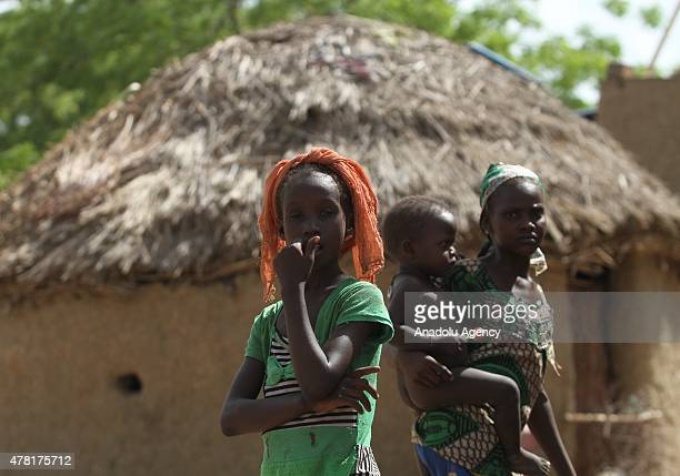N'DJAMENA CHAD JUNE 22 Chadian girls are seen in a village near the capital N'Djamena Chad on June 22 2015 Turkeys Humanitarian Relief Foundation...